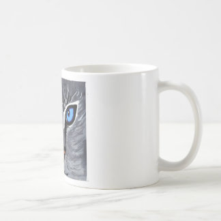 cat eyes gorgeous blue coffee mugs