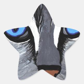 cat eyes gorgeous blue star sticker