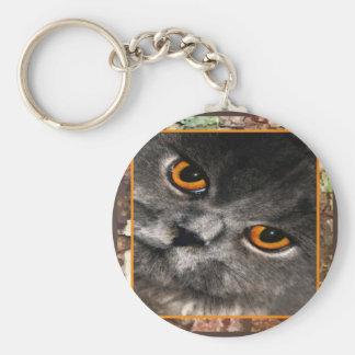 Cat Eyes Keycahin Basic Round Button Keychain