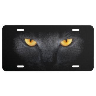 Cat Eyes License Plate