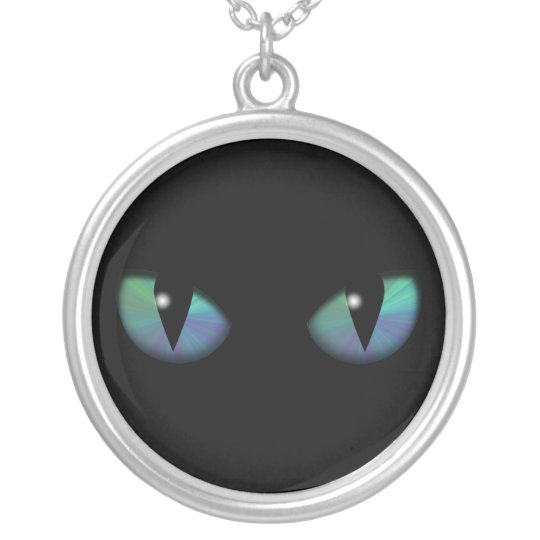 Cat Eyes Silver Plated Necklace