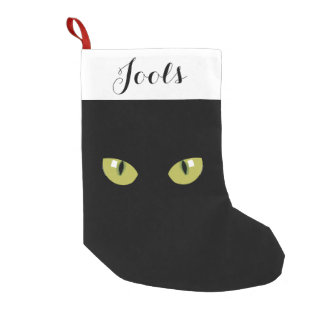 Cat eyes small christmas stocking
