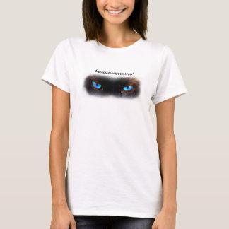 Cat eyes, the eyes have it, blue siamese kitten T-Shirt