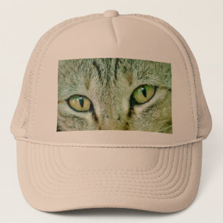 cat eyes trucker hat