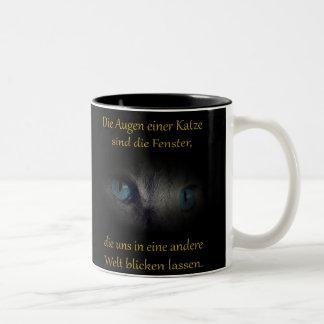 Cat eyes Two-Tone coffee mug
