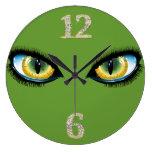 Cat Eyes Wall Clock