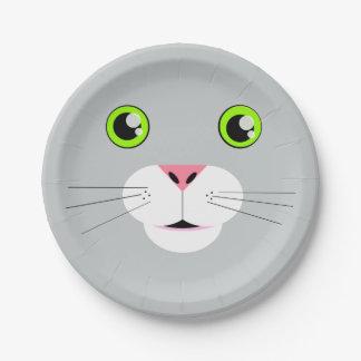 Cat Face 7 Inch Paper Plate