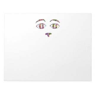 Cat Face Abstract Notepad