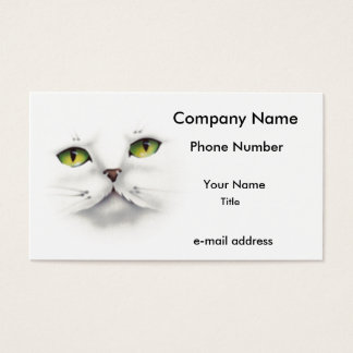 cat face business card