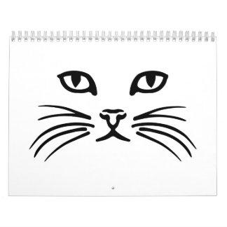 Cat face wall calendar