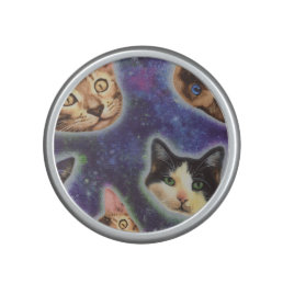 cat face - cat - funny cats - cat space bluetooth speaker