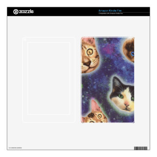 cat face - cat - funny cats - cat space skins for kindle fire