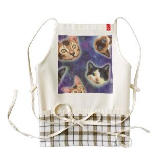 cat face - cat - funny cats - cat space zazzle HEART apron