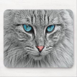 Cat face close-up, custom photo mouse pad