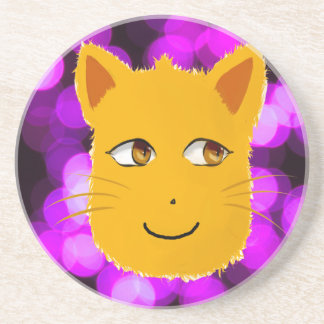 Cat Face Drink Coaster