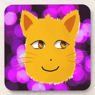 Cat Face Beverage Coasters