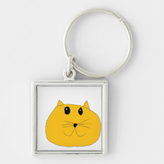 Cat Face Keychain