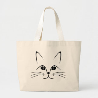 CAT FACE LARGE TOTE BAG
