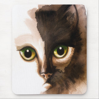 CAT FACE PAINTING Mousepad