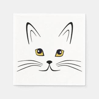 Cat Face Paper Napkin