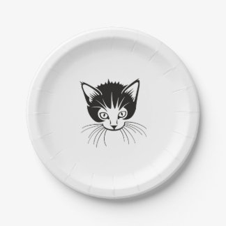 Cat Face Paper Plate