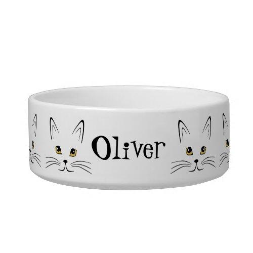 Cat Face Personalize It Bowl