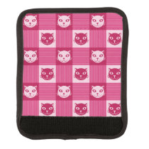 Cat Face Pink Gingham Pattern Cute Handle Wrap