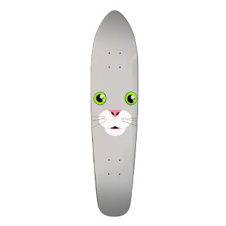 Cat Face Skateboard Deck