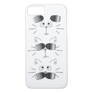 Cat Face Totem Hear See Speak No Evil iPhone 7 Case