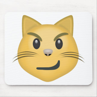 Cat Face With Wry Smile Emoji Mouse Pad