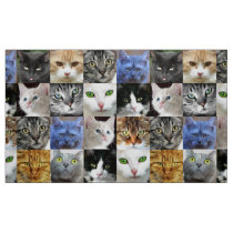 Cat Faces Collage Sewing Craft Fabric
