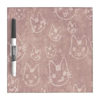 Cat Faces  Dry Erase Board