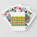 Cat faces on sand card deck