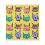 Cat faces on sand memo notepads