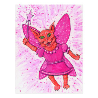 Cat Fairy Postcard