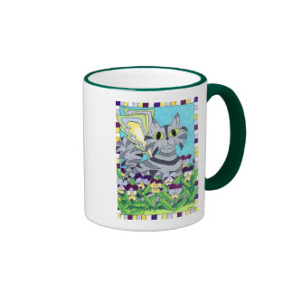 Cat Fairy with Pansies Mugs