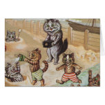 Cat Family At the Beach Cards