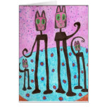 Cat Family - drawing done by simo Autism Greeting Cards