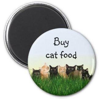 Cat family fridge magnet