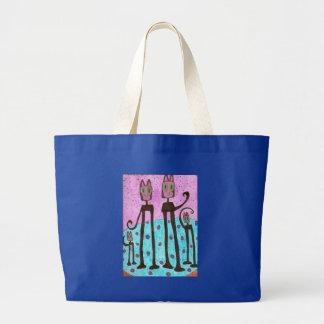 Cat Family Tote Bags