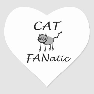 Cat fanatic heart sticker