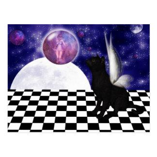 CAT fantasy Postcard