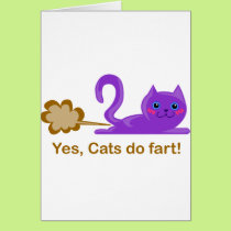 Cat fart - farting cat card