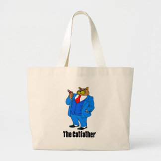 Cat Father Tote Bag