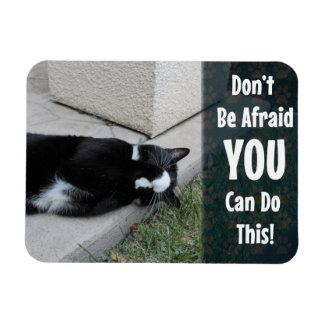Cat Fear Advice Rectangular Photo Magnet