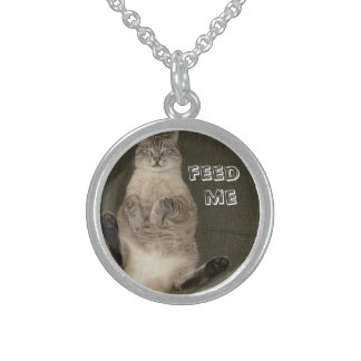 """Cat """"FEED ME"""" Necklace"""