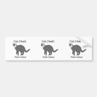 Cat Felis Catus Bumper Sticker