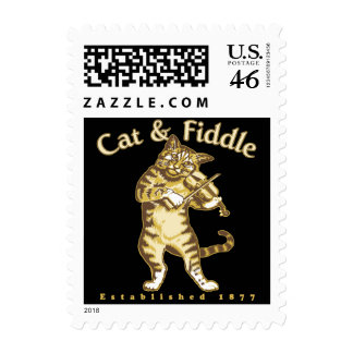 Cat Fiddle Stamp