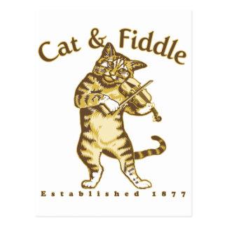 Cat Fiddle Postcards