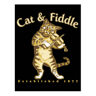 Cat Fiddle Postcard